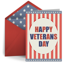 Patriotic Stars and Stripes card image