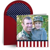 American Flag Photo Frame card image