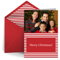 Red Christmas Stripes card image
