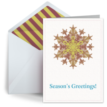 Business Snowflake card image