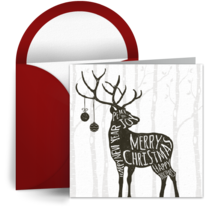 Snowy Forest Reindeer card image
