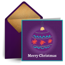 Royal Purple Ornament card image
