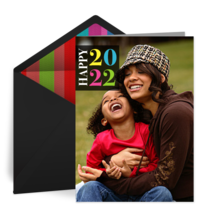Colorful New Year card image