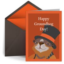 Happy Groundhog Day card image