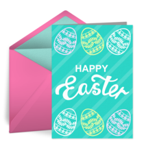 Elegant Easter Egg card image