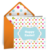 Easter Polka Dots card image