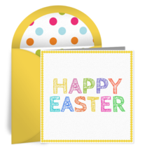 Happy Easter card image