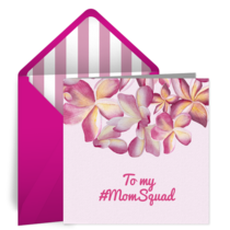 Pink Flowers card image