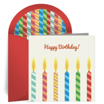 Striped Candles card image