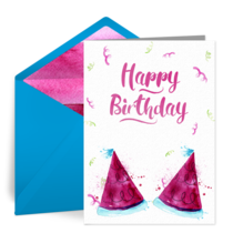 Party Hats Birthday card image