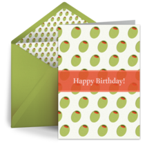 Birthday Olives card image