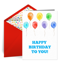 Colorful Birthday Balloons card image