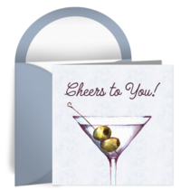 Birthday Martini Cheers card image