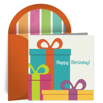 Colorful Birthday Presents card image