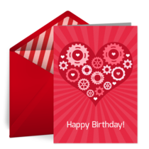 Gearhead Birthday card image