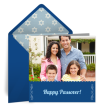 Simple Passover Photo Frame card image
