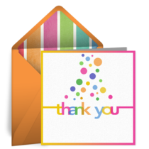 Bubble Thank You card image