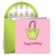 Girly Purse card image