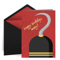 Pirate Birthday card image