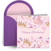 Birthday Princess card image