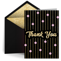 Thank You Dots & Stripes card image