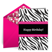 Zebra Chic card image