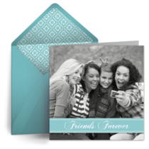 Friends Turquoise Photo card image