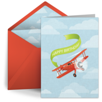 Birthday Biplane card image
