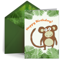 Birthday Monkey card image