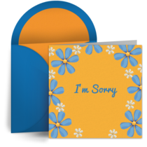 Sorry Flowers card image