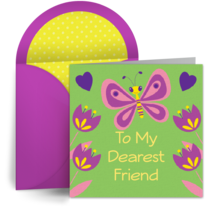 Friendly Butterfly card image