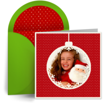 Christmas Ornament Photo card image