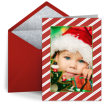 Peppermint Stripe Photo card image