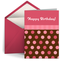 Birthday Candy Bubbles card image