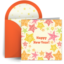 New Years Stars card image