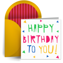 Birthday Poster card image