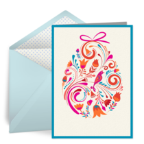 Colorful Easter Egg card image