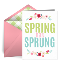 Spring Has Sprung card image