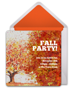 Free fall themed online invitations punchbowl fall foliage filmwisefo