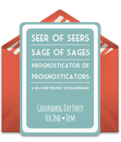 Free groundhog online invitations punchbowl plus m4hsunfo Choice Image