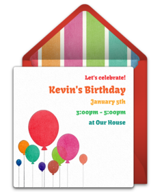 Free Birthday Save The Dates Online Punchbowl - Save the date templates online