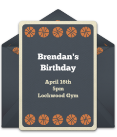 Free March Basketball Online Invitations