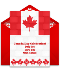 Free Canada Day Online Invitations Punchbowl