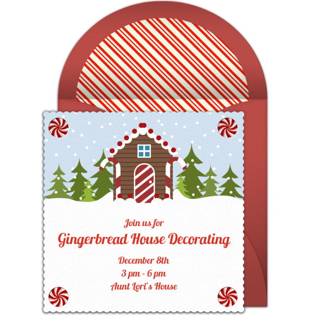 Free Gingerbread House Online Invitation Punchbowl Com