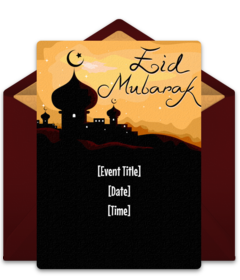 Free eid al fitr online invitations punchbowl joyful eid mubarak stopboris Image collections
