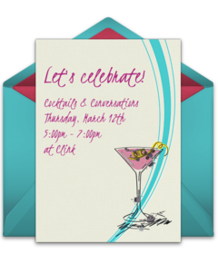 free drinks cocktails online invitations punchbowl