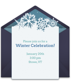 free winter themed online invitations punchbowl