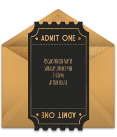 free oscars party online invitations punchbowl
