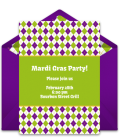 photograph about Free Printable Mardi Gras Invitations named No cost Mardi Gras On line Invites Punchbowl