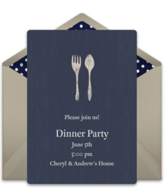 Free dinner party online invitations punchbowl plus stopboris Images
